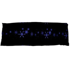 Xmas elegant blue snowflakes Body Pillow Case (Dakimakura)