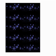 Xmas elegant blue snowflakes Large Garden Flag (Two Sides)
