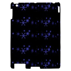 Xmas elegant blue snowflakes Apple iPad 2 Hardshell Case
