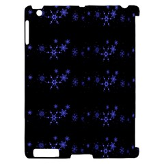 Xmas elegant blue snowflakes Apple iPad 2 Hardshell Case (Compatible with Smart Cover)