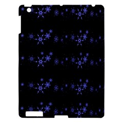 Xmas elegant blue snowflakes Apple iPad 3/4 Hardshell Case