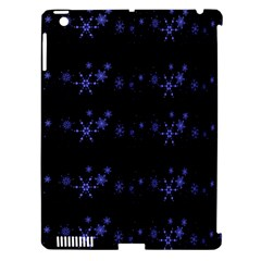 Xmas elegant blue snowflakes Apple iPad 3/4 Hardshell Case (Compatible with Smart Cover)