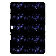 Xmas elegant blue snowflakes Samsung Galaxy Tab 10.1  P7500 Hardshell Case