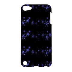 Xmas elegant blue snowflakes Apple iPod Touch 5 Hardshell Case