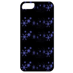 Xmas elegant blue snowflakes Apple iPhone 5 Classic Hardshell Case