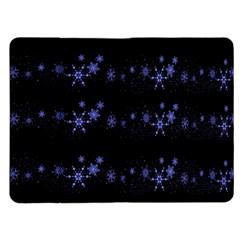 Xmas elegant blue snowflakes Kindle Fire (1st Gen) Flip Case