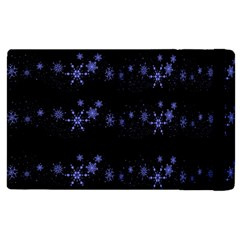 Xmas elegant blue snowflakes Apple iPad 2 Flip Case