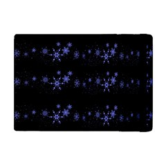 Xmas elegant blue snowflakes Apple iPad Mini Flip Case