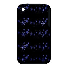 Xmas elegant blue snowflakes Apple iPhone 3G/3GS Hardshell Case (PC+Silicone)