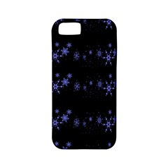 Xmas elegant blue snowflakes Apple iPhone 5 Classic Hardshell Case (PC+Silicone)