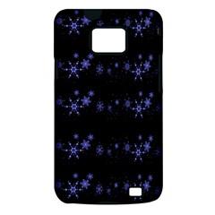Xmas elegant blue snowflakes Samsung Galaxy S II i9100 Hardshell Case (PC+Silicone)