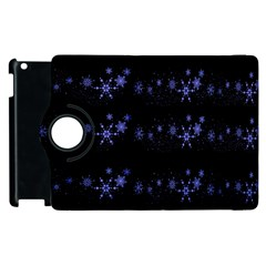 Xmas elegant blue snowflakes Apple iPad 3/4 Flip 360 Case