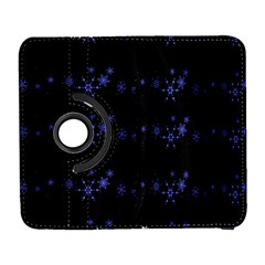 Xmas elegant blue snowflakes Samsung Galaxy S  III Flip 360 Case