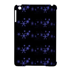 Xmas elegant blue snowflakes Apple iPad Mini Hardshell Case (Compatible with Smart Cover)