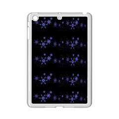 Xmas elegant blue snowflakes iPad Mini 2 Enamel Coated Cases
