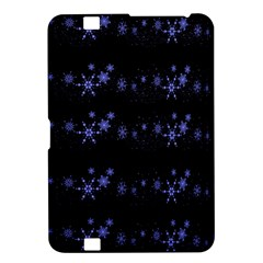 Xmas elegant blue snowflakes Kindle Fire HD 8.9