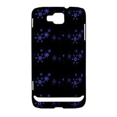 Xmas elegant blue snowflakes Samsung Ativ S i8750 Hardshell Case