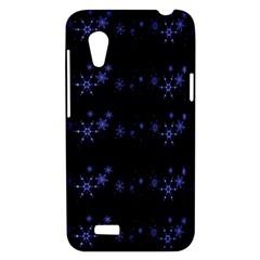 Xmas elegant blue snowflakes HTC Desire VT (T328T) Hardshell Case