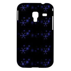 Xmas elegant blue snowflakes Samsung Galaxy Ace Plus S7500 Hardshell Case