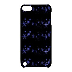 Xmas elegant blue snowflakes Apple iPod Touch 5 Hardshell Case with Stand