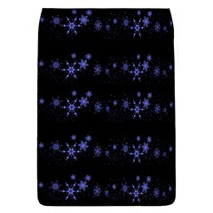 Xmas elegant blue snowflakes Flap Covers (L)