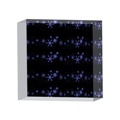 Xmas elegant blue snowflakes 4 x 4  Acrylic Photo Blocks