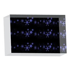 Xmas elegant blue snowflakes 4 x 6  Acrylic Photo Blocks