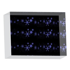 Xmas elegant blue snowflakes 5 x 7  Acrylic Photo Blocks