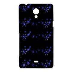 Xmas elegant blue snowflakes Sony Xperia T