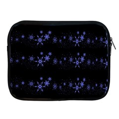 Xmas elegant blue snowflakes Apple iPad 2/3/4 Zipper Cases