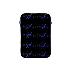 Xmas elegant blue snowflakes Apple iPad Mini Protective Soft Cases