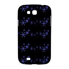 Xmas elegant blue snowflakes Samsung Galaxy Grand GT-I9128 Hardshell Case