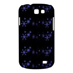 Xmas elegant blue snowflakes Samsung Galaxy Express I8730 Hardshell Case