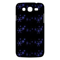 Xmas elegant blue snowflakes Samsung Galaxy Mega 5.8 I9152 Hardshell Case