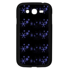 Xmas elegant blue snowflakes Samsung Galaxy Grand DUOS I9082 Case (Black)