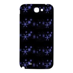 Xmas elegant blue snowflakes Samsung Note 2 N7100 Hardshell Back Case