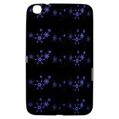 Xmas elegant blue snowflakes Samsung Galaxy Tab 3 (8 ) T3100 Hardshell Case