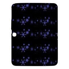 Xmas elegant blue snowflakes Samsung Galaxy Tab 3 (10.1 ) P5200 Hardshell Case