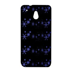 Xmas elegant blue snowflakes HTC One Mini (601e) M4 Hardshell Case