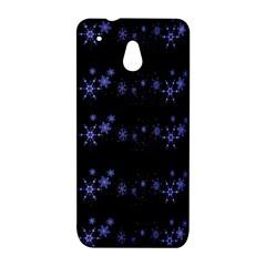 Xmas elegant blue snowflakes HTC One Mini (601e) M4 Hardshell Case
