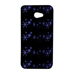 Xmas elegant blue snowflakes HTC Butterfly S/HTC 9060 Hardshell Case