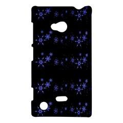 Xmas elegant blue snowflakes Nokia Lumia 720