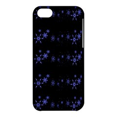 Xmas elegant blue snowflakes Apple iPhone 5C Hardshell Case