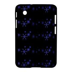 Xmas elegant blue snowflakes Samsung Galaxy Tab 2 (7 ) P3100 Hardshell Case