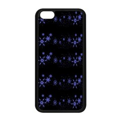 Xmas elegant blue snowflakes Apple iPhone 5C Seamless Case (Black)