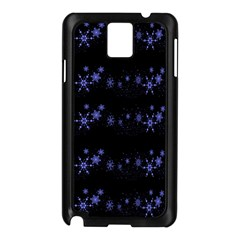 Xmas elegant blue snowflakes Samsung Galaxy Note 3 N9005 Case (Black)