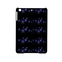 Xmas elegant blue snowflakes iPad Mini 2 Hardshell Cases