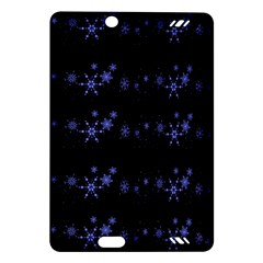 Xmas elegant blue snowflakes Amazon Kindle Fire HD (2013) Hardshell Case