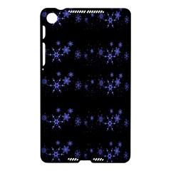 Xmas elegant blue snowflakes Nexus 7 (2013)