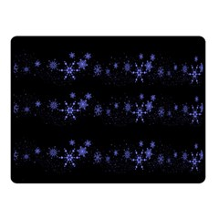 Xmas elegant blue snowflakes Double Sided Fleece Blanket (Small)